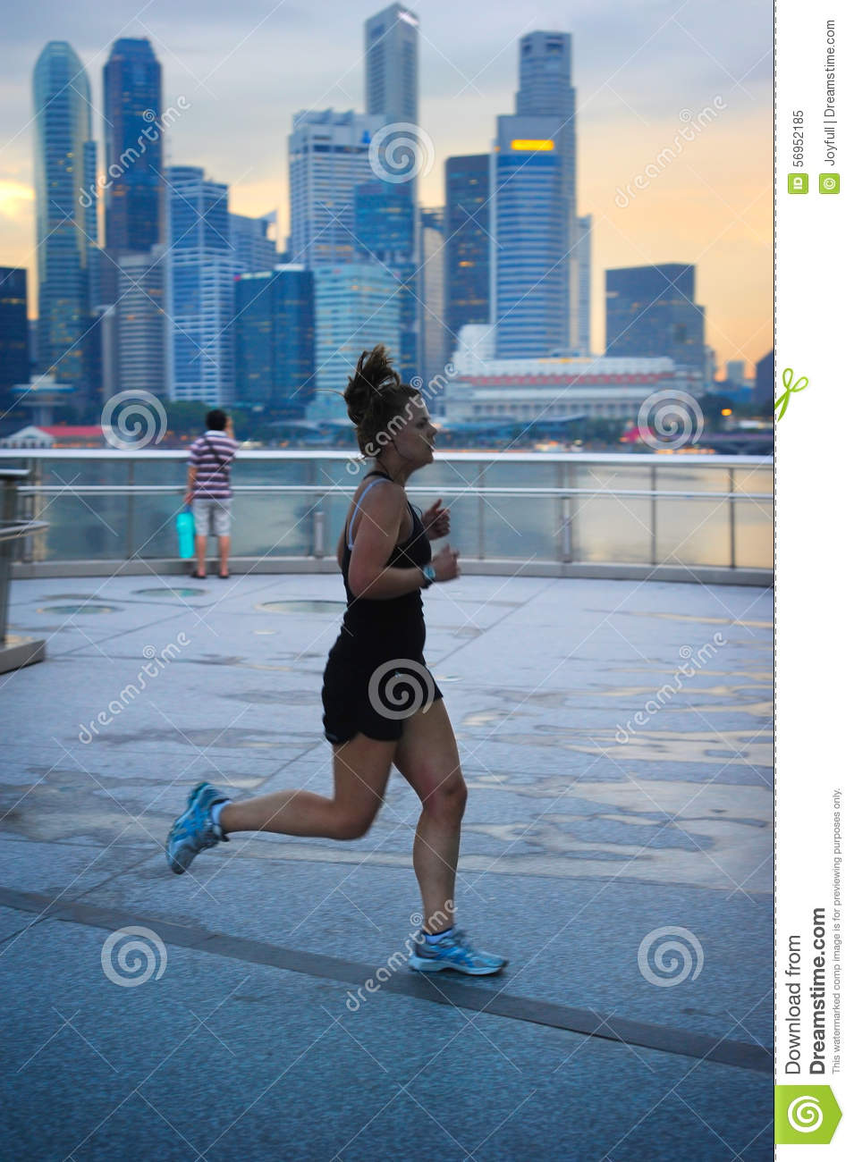 Action woman in singapore