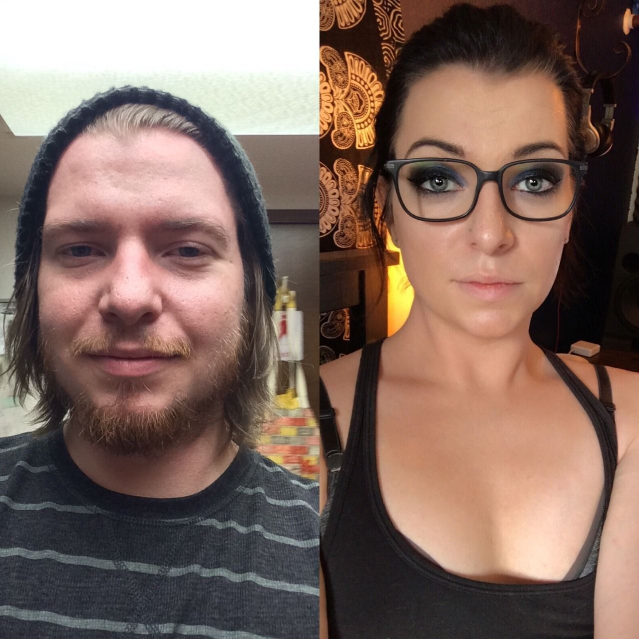 Sex change before and after face